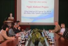 Tổng lãnh sự Liên bang Nga đến thăm và làm việc tại Viện Nghiên cứu hạt nhân